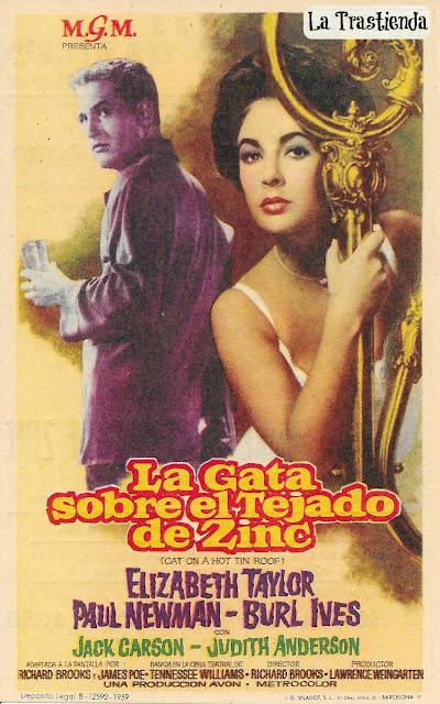 Programa de Cine - La Gata sobre el Tejado de Zinc - Paul Newman - Elisabeth Taylor