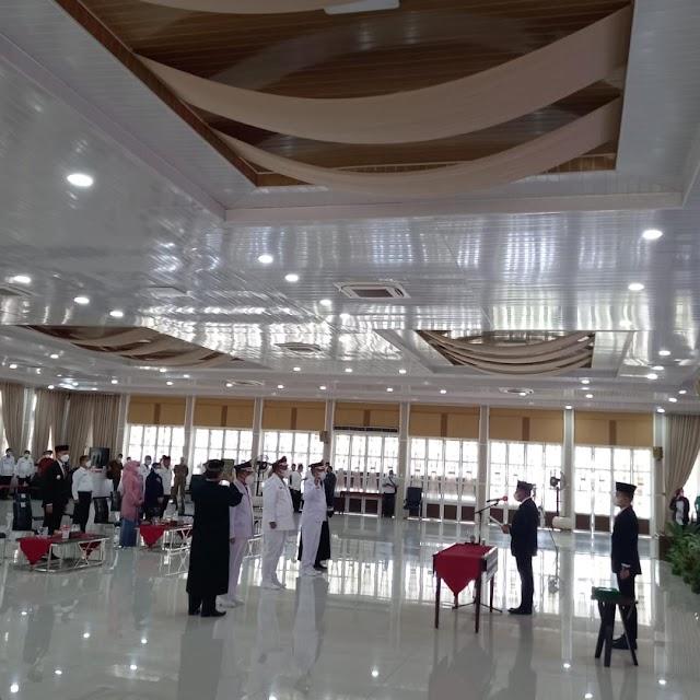 Lantik Pj Bupati Labuhanbatu, Labusel dan Samosir,  Gubernur Minta Bersikap Netral