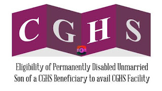Unmarried permanently disabled and financially dependent sons to use CGHS facility