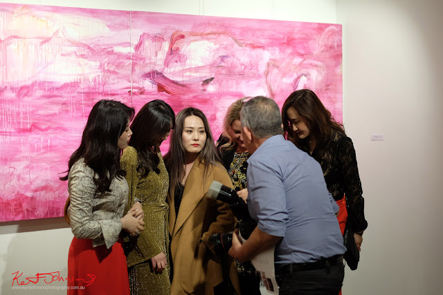 Time for some group photos - Beyond the Light - Chinese Artist He Zige - Photos By Kent Johnson for Street Fashion Sydney.