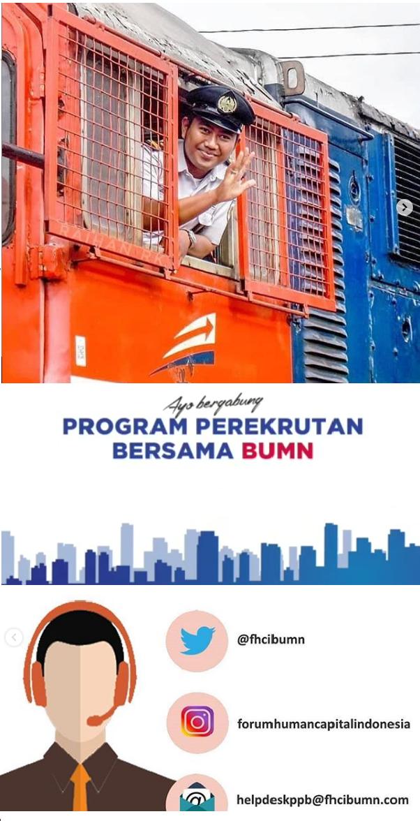 Lowongan PT Kereta Api Indonesia (Persero) Via Rekrut Besama FHCI BUMN