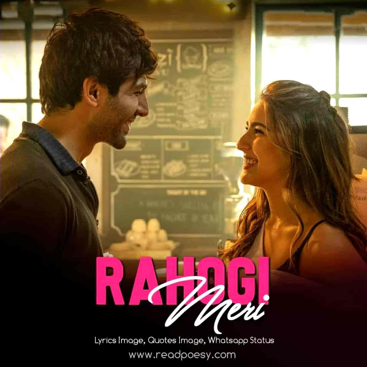 Rahogi Meri Love Song Lyrics, Sung By Arijit Singh.