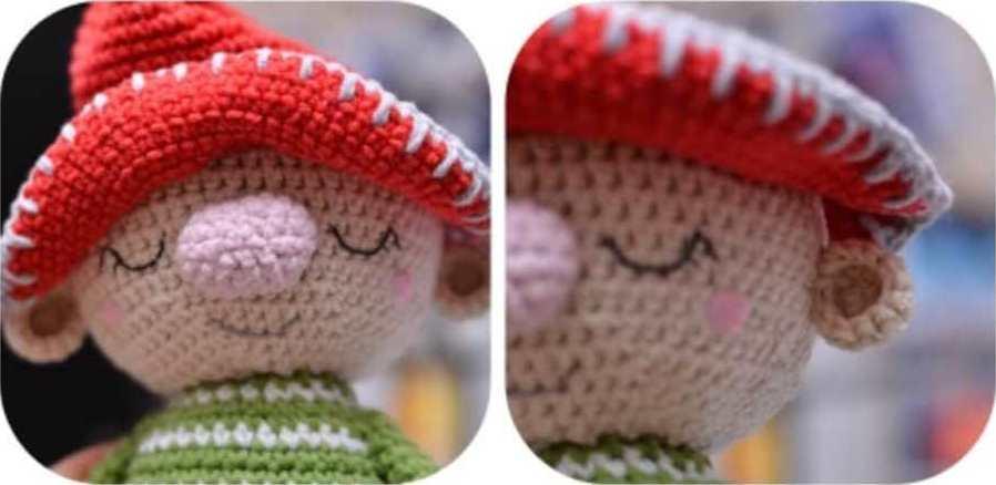 Amigurumi gnome crochet doll