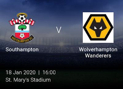 LIVE MATCH: Southampton V Wolves Premier League 18/01/2020