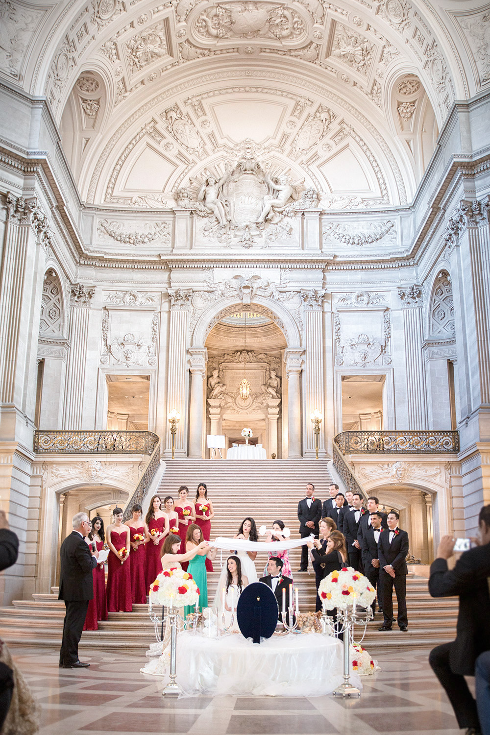 San Francisco City Hall Persian wedding