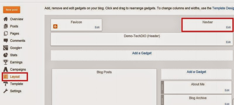 How To Remove Blogger Navibar-Techdio