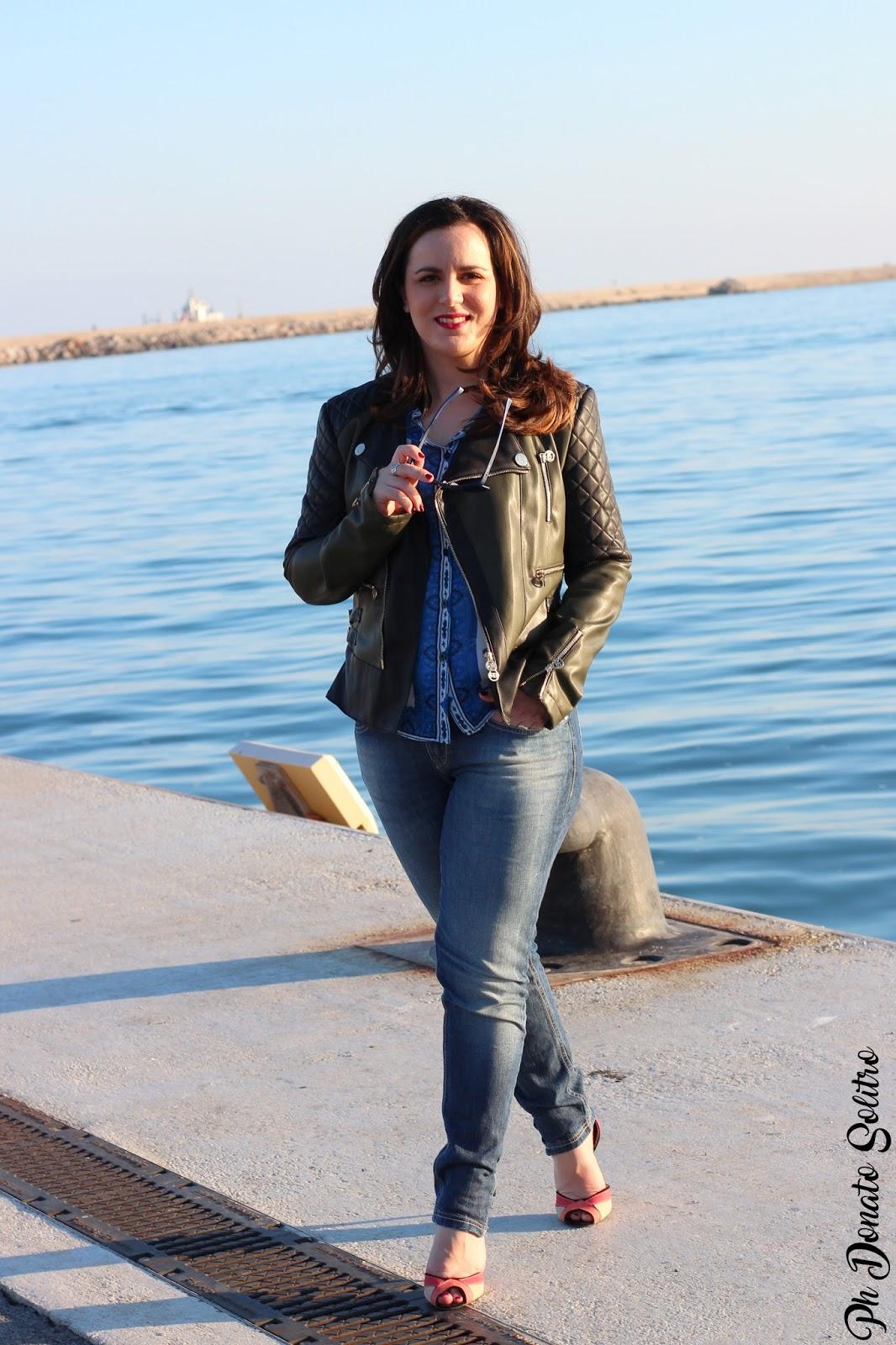 Biker Jacket fashion blogger Salerno