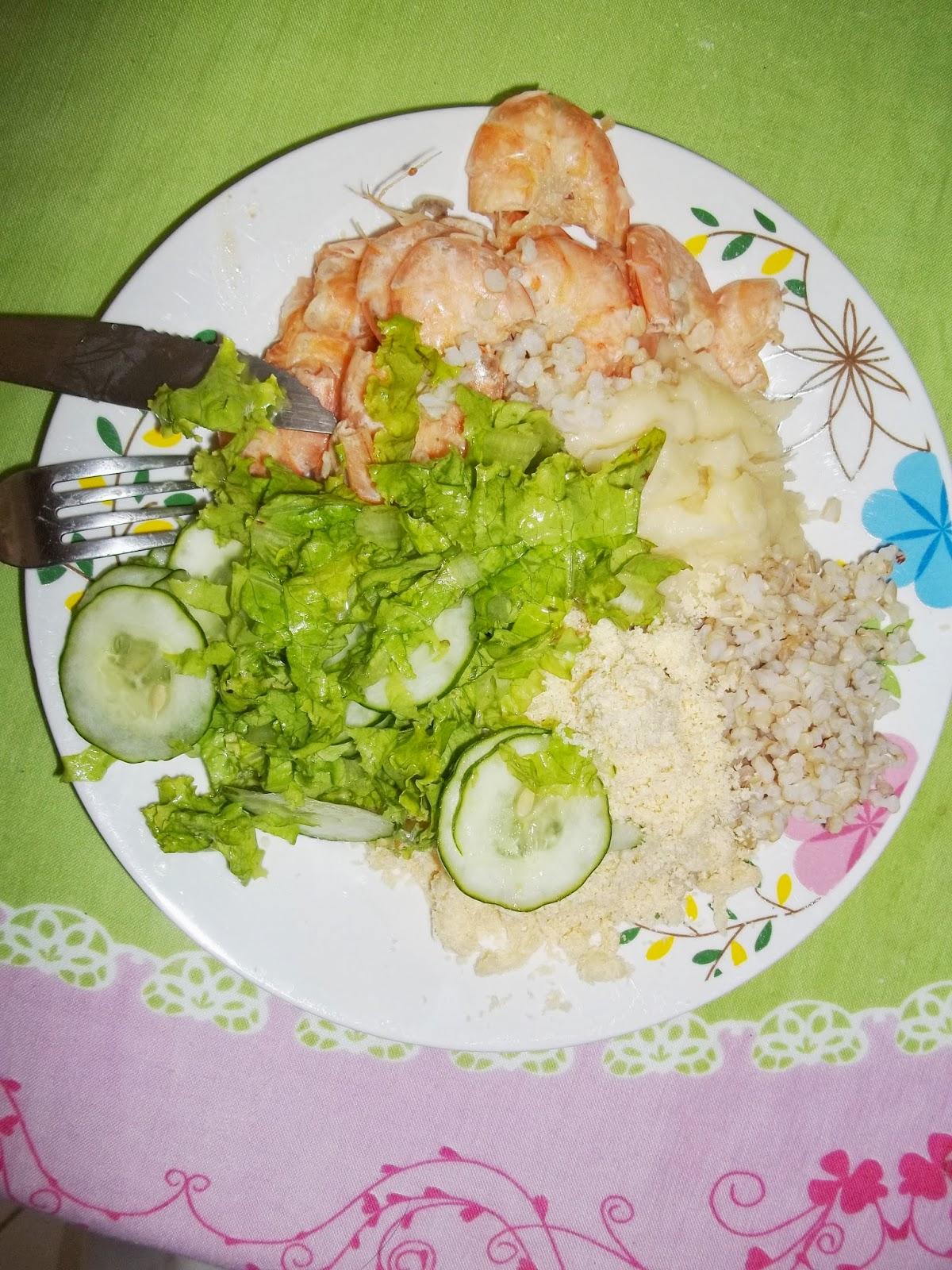 receita fácil de camarão saudável