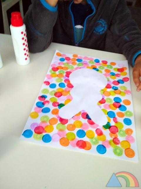 Dibujo de Pascua hecho con los Do-a-Dot Art Markers