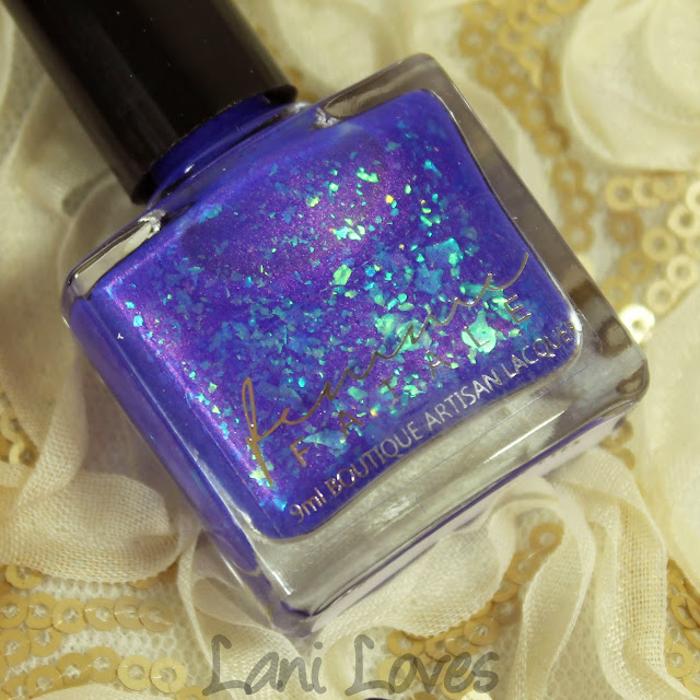 Femme Fatale Cosmetics Blue Within Blue Eyes nail polish swatches & review