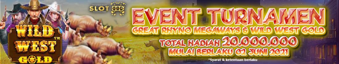 SLOTVIP - Tournamen Slot Great Rhino Megaways Dan Wild West Gold