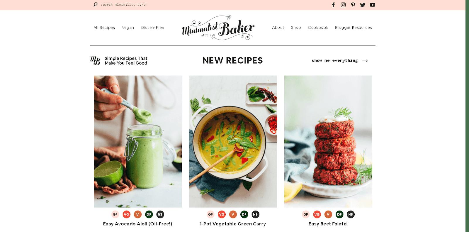 sajt-minimalistbaker-primer-domashnej-straniczy-dlya-kulinarnogo-bloga