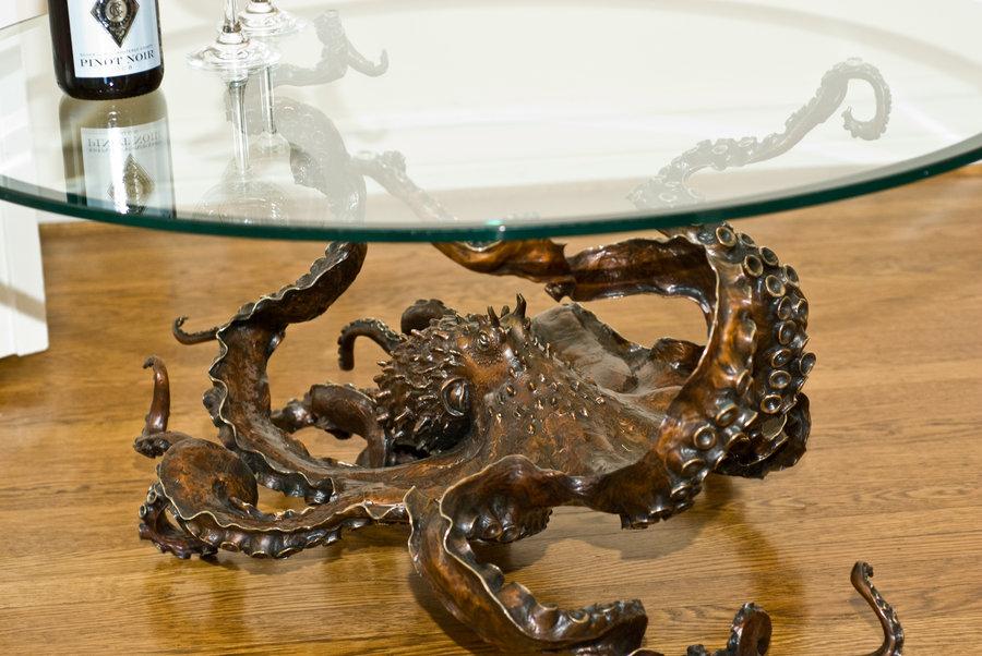 OCTOPUS bronze sculpture & table