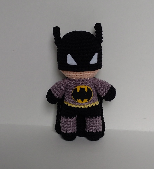 Super Herói Batman Em Crochê - Amigurumi (articulado) - R$ 182,90 ... | 580x528