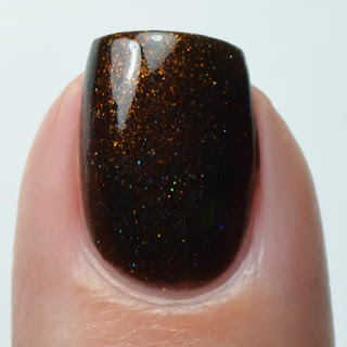 black nail polish copper shimmer