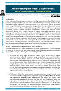 Akselerasi Implementasi E-Government