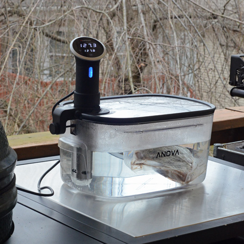 Using the Anova precision water cooker or sous vide.