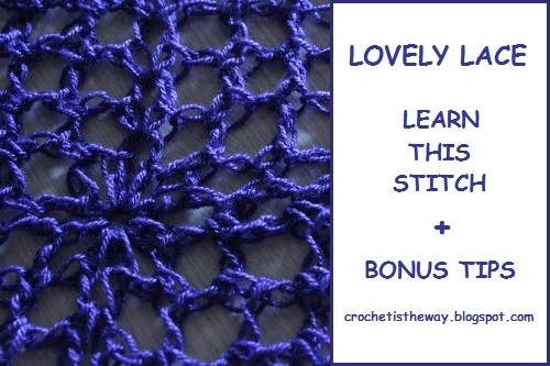 crochet, how to, tutorial, stitch pattern, free, lace, mesh, easy, joining, single crochet, half double crochet, double crochet, in the round