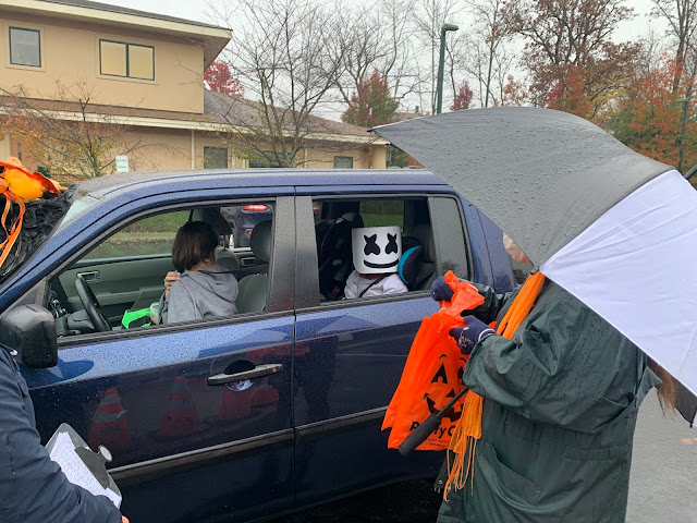Halloween Drive By Celebration at Sussex County Family Success Center.
