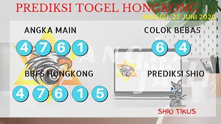Prediksi Angka Jadi Togel HK Minggu 28 Juni 2020