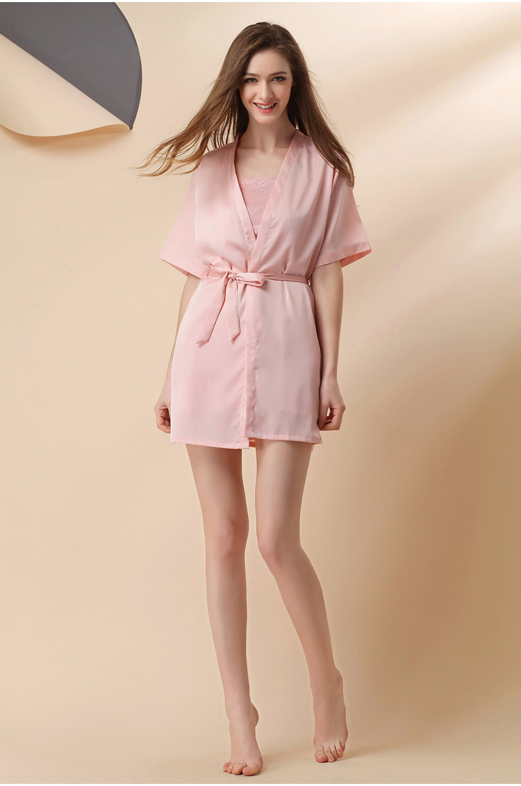 Áo choàng kèm váy lụa cup ngực cao cấp 1