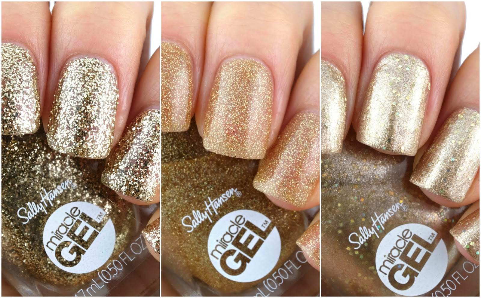 Sally Hansen | Holiday 2019 Oh My Gold! Miracle Gel Collection: Review and Swatches