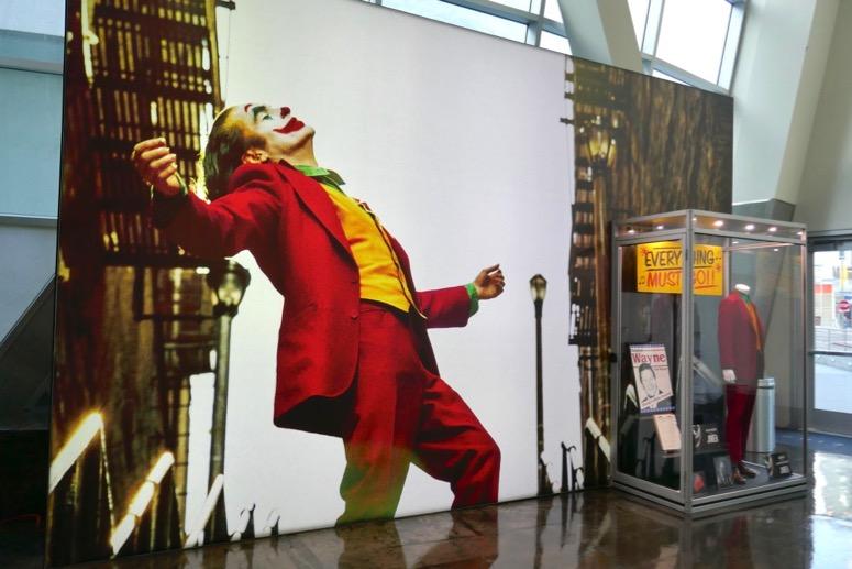 Joaquin Phoenix Joker costume prop exhibit