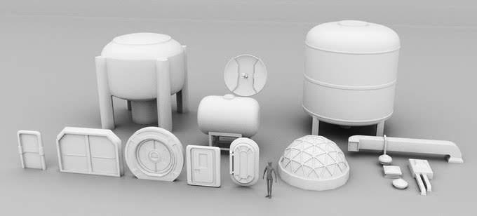 10mm Wargaming: 3d Printable Sci-fi Buildings for Tabletop Wargames