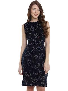 Women's-Crepe-A-line-Dress