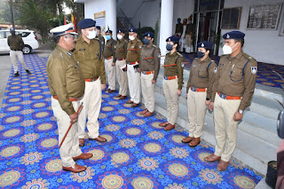 पुलिस महानिरीक्षक जबलपुर जोन जबलपुर ने किया पुलिस कार्यालय का वार्षिक निरीक्षण