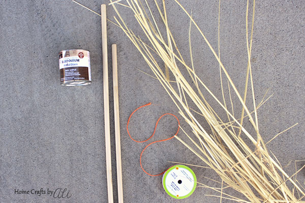 With just a few supplies, you can make cute broomsticks for your porch