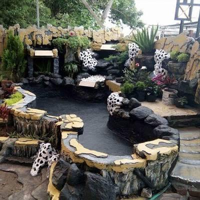 25 contoh relief taman tebing rumah