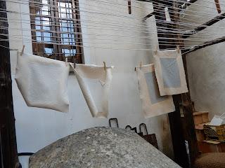 アマルフィのMuseo della Cartaの紙漉き体験
