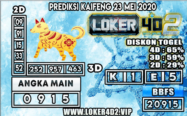 PREDIKSI TOGEL KAIFENG LOKER4D2 23 MEI 2020