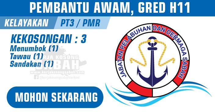 Jawatan Kosong Kerajaan Negeri Sabah 2021 | PEMBANTU AWAM, GRED H11