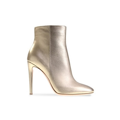 Gianvito Rossi Spring Summer 2016 Shoes Dree gold stiletto heel ankle boots