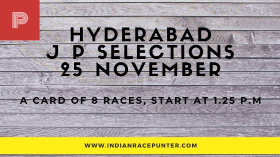 Hyderabad Jackpot Selections 25 November