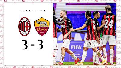 ملخص واهداف مباراة ميلان وروما (3-3) الدوري الايطالي