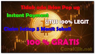 Cara Mendapatkan Bitcoin Gratis Setiap 5 Menit di Starbits (No Pop Ads)