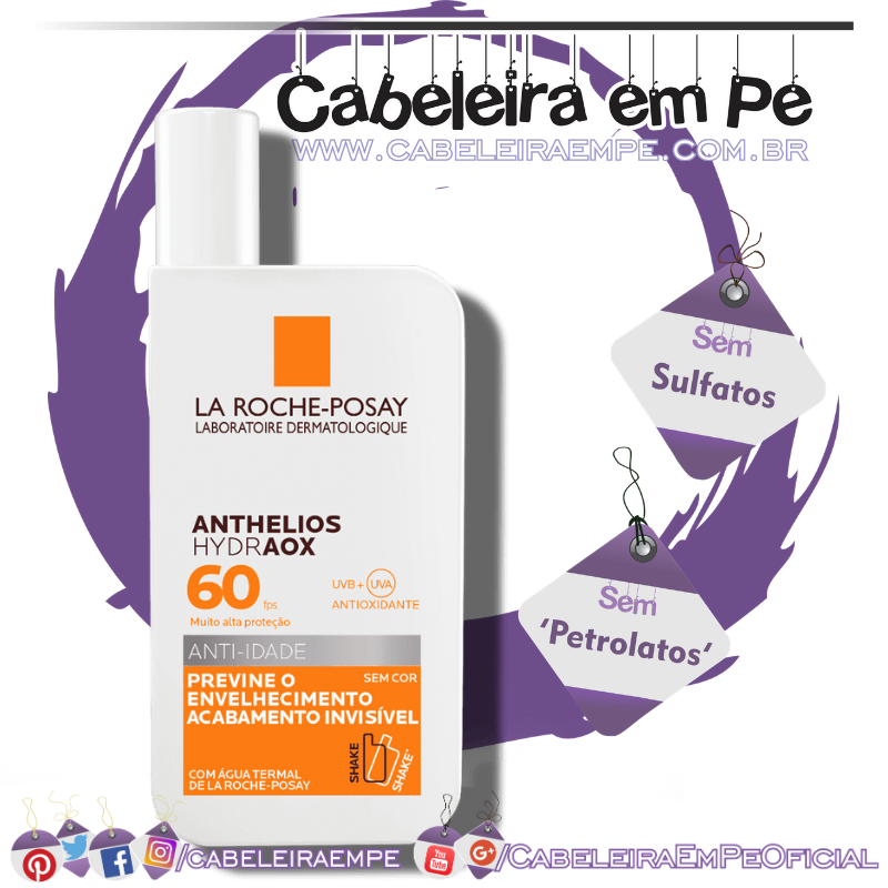 Protetor Anthelios Hydraox 60 Anti-idade - La Roche Posay