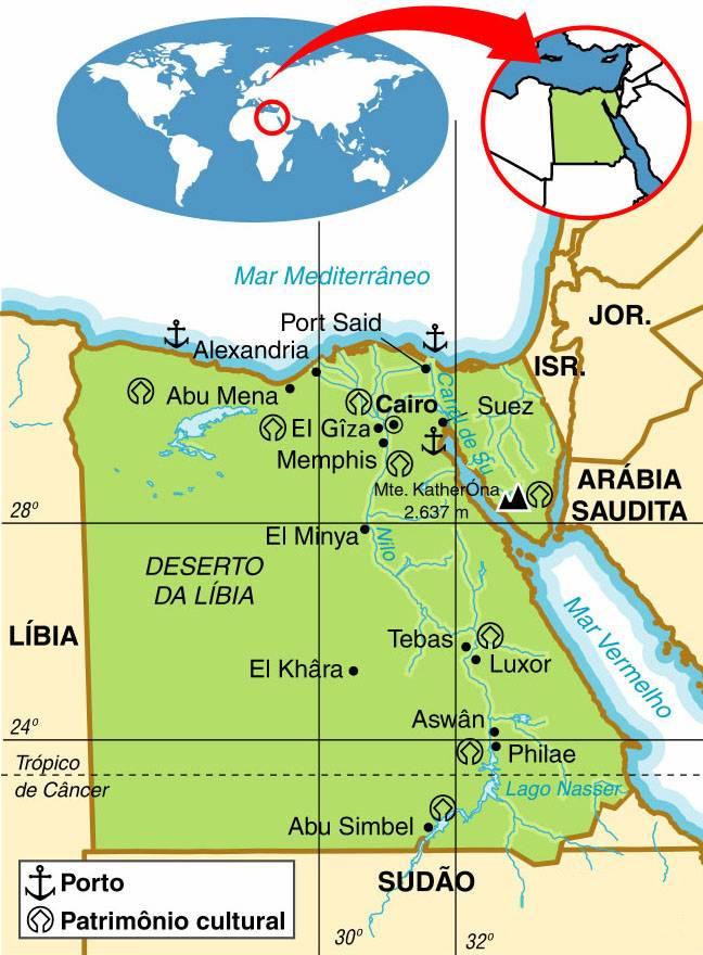 EGITO - ASPECTOS GEOGRÁFICOS E SOCIAIS DO EGITO