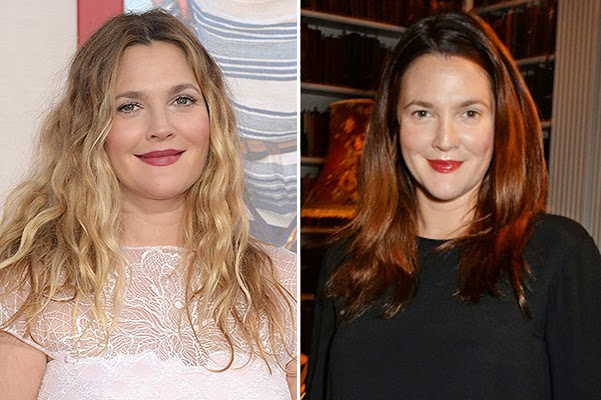 Farewell Ombre_Drew Barrymore changed hair colo