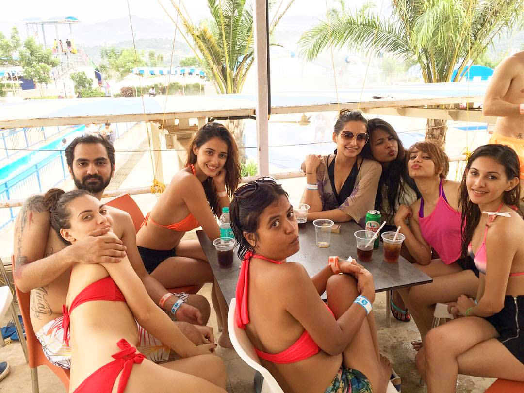 Disha Patani in Bikini with friends