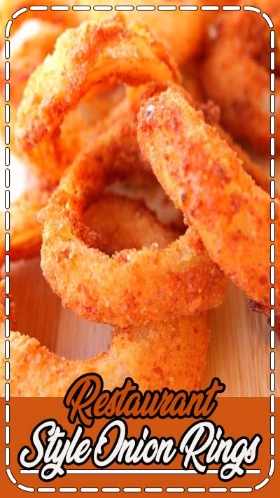 Restaurant Style Onion Rings from SixSistersStuff.com. So good, you'll never need to go out to eat again!