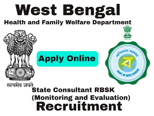 State Consultant RBSK Recruitment under West Bengal Health Department