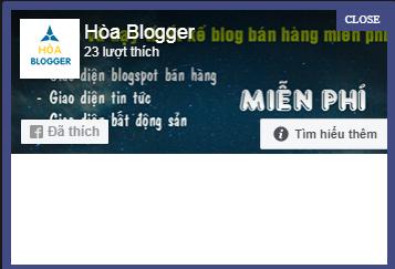 Hướng dẫn tạo Popup Facebook Like Box cho blogspot