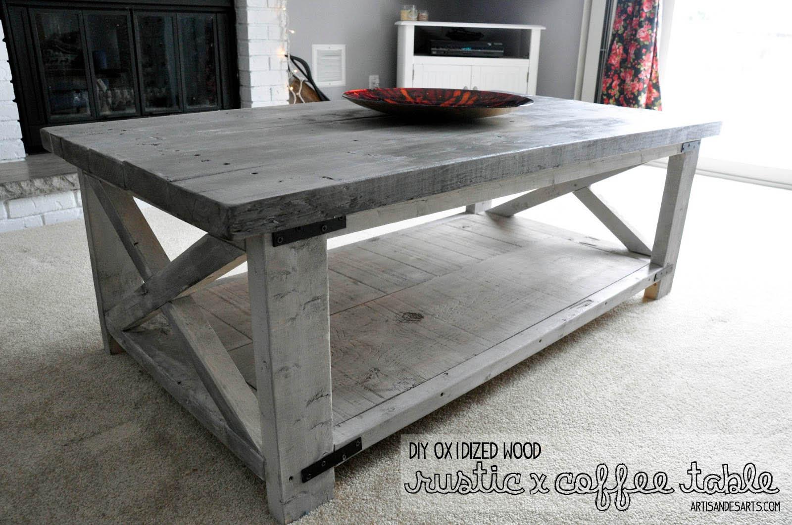 artisan des arts: DIY - Oxidized wood X coffee table