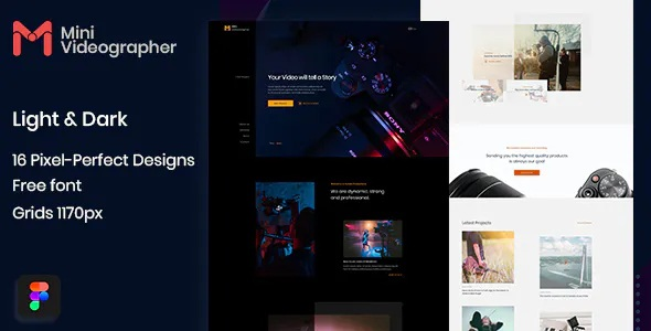 Download Photography & Videography Website Figma Template
