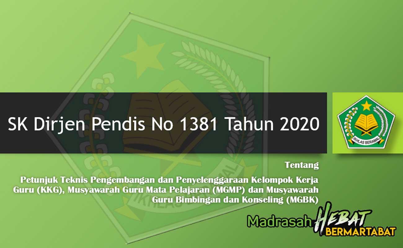 Juknis Pengembangan KKG MGMP dan MGBK Tahun 2020