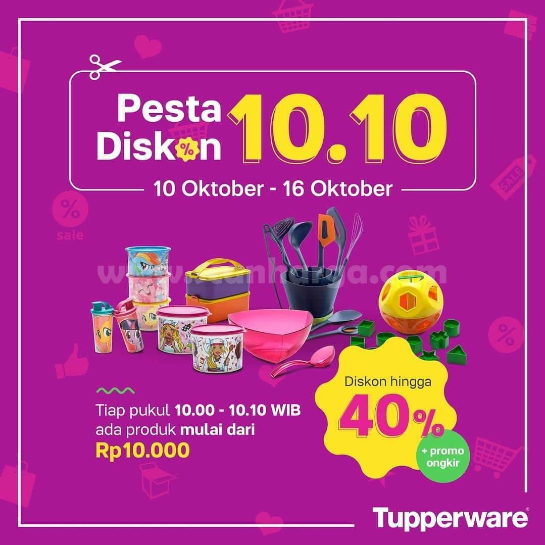 Promo Tupperware Harbolnas 10.10 Pesta Diskon 40% + Promo Ongkir*